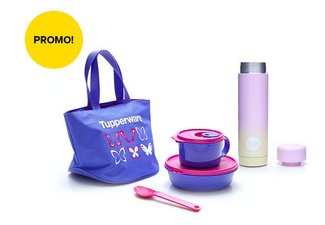 Delight Set with Slim Thermos (1) Pink Yellow