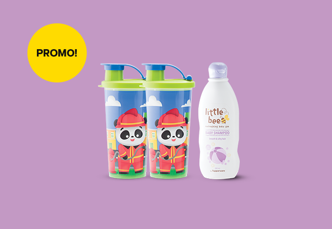Tupperware Fun Tumbler (2) & Little Bee Shampoo