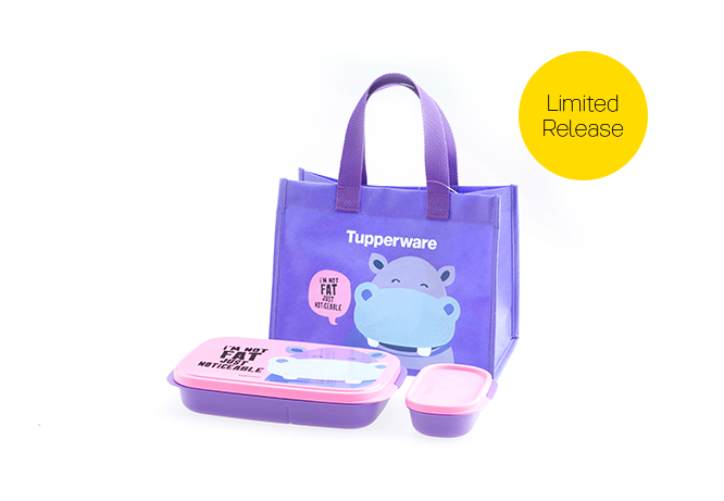 Tupperware Foodie Buddy Hippo with Bag