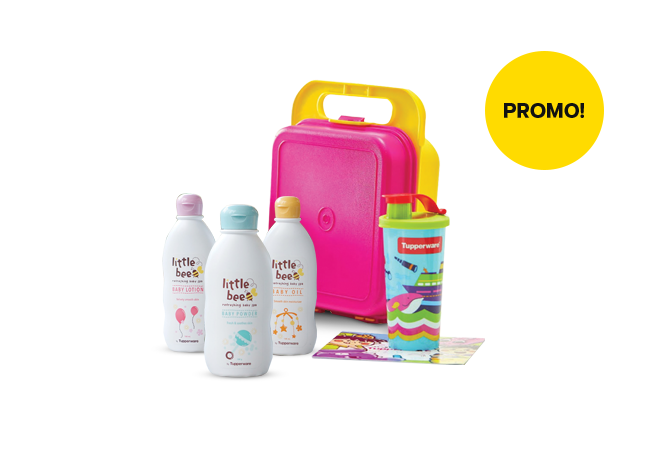 Tupperware Baby Grooming Set - Pink Yellow