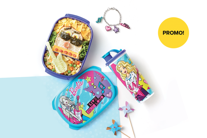 Tupperware Barbie Lunch Set - Music
