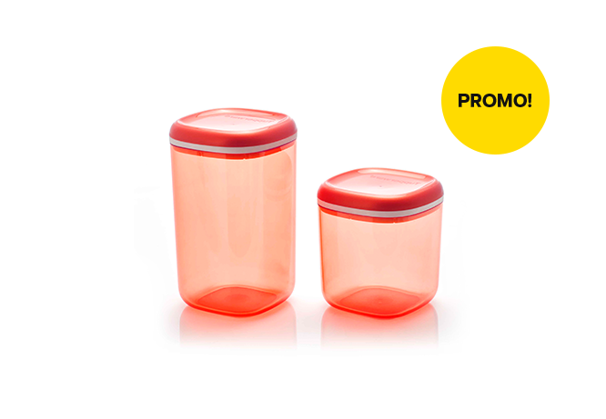 Tupperware Crystal Canister Set