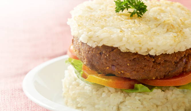 Rendang Rice Burger